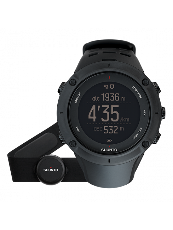 Suunto Ambit3 Peak Black HR mit Brustgurt
